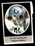 1972 Sunoco Stamps  Tom Keating  Front Thumbnail
