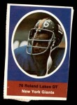 1972 Sunoco Stamps #423  Roland Lakes  Front Thumbnail