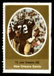 1972 Sunoco Stamps  Joe Owens  Front Thumbnail