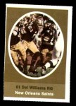 1972 Sunoco Stamps  Del Williams  Front Thumbnail