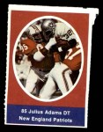 1972 Sunoco Stamps  Julius Adams  Front Thumbnail