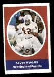 1972 Sunoco Stamps  Don Webb  Front Thumbnail