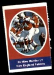 1972 Sunoco Stamps  Mike Montler  Front Thumbnail