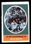 1972 Sunoco Stamps  Bob Kuechenberg  Front Thumbnail