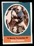 1972 Sunoco Stamps  Manny Fernandez  Front Thumbnail