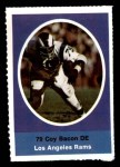 1972 Sunoco Stamps  Coy Bacon  Front Thumbnail