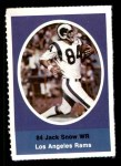 1972 Sunoco Stamps  Jack Snow  Front Thumbnail