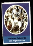1972 Sunoco Stamps  Roman Gabriel  Front Thumbnail