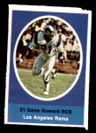 1972 Sunoco Stamps  Gene Howard  Front Thumbnail