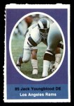 1972 Sunoco Stamps  Jack Youngblood  Front Thumbnail