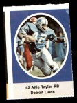 1972 Sunoco Stamps  Altie Taylor  Front Thumbnail