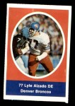 1972 Sunoco Stamps  Lyle Alzado  Front Thumbnail