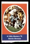 1972 Sunoco Stamps  Billy Masters  Front Thumbnail