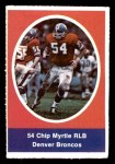 1972 Sunoco Stamps  Chip Myrtle  Front Thumbnail