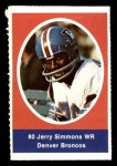 1972 Sunoco Stamps  Jerry Simmons  Front Thumbnail
