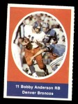 1972 Sunoco Stamps  Bob Anderson  Front Thumbnail