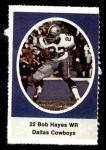 1972 Sunoco Stamps  Bob Hayes  Front Thumbnail