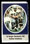 1972 Sunoco Stamps  Roger Staubach  Front Thumbnail