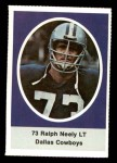 1972 Sunoco Stamps  Ralph Neely  Front Thumbnail