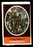 1972 Sunoco Stamps  Doug Dieken  Front Thumbnail