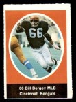 1972 Sunoco Stamps  Bill Bergey  Front Thumbnail