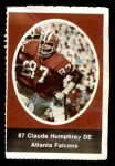 1972 Sunoco Stamps  Claude Humphrey  Front Thumbnail