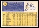 1970 Topps #158  Jerry McNertney  Back Thumbnail