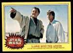 1977 Topps Star Wars #184   Luke and his uncle Front Thumbnail