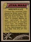 1977 Topps Star Wars #293   A friendly chat among alien friends! Back Thumbnail