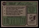 1974 Topps #313  Barry Lersch  Back Thumbnail