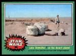 1977 Topps Star Wars #208   Luke Skywalker on the desert planet Front Thumbnail
