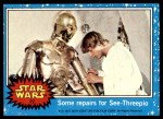 1977 Topps Star Wars #27   Some repairs for C-3PO Front Thumbnail