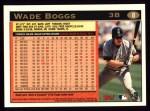 1997 Topps #8  Wade Boggs  Back Thumbnail
