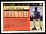 1997 Topps #92  Carlos Delgado  Back Thumbnail