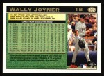 1997 Topps #132  Wally Joyner  Back Thumbnail