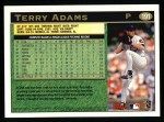 1997 Topps #191  Terry Adams  Back Thumbnail