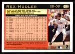 1997 Topps #254  Rex Hudler  Back Thumbnail