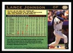 1997 Topps #261  Lance Johnson  Back Thumbnail