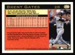 1997 Topps #296  Brent Gates  Back Thumbnail