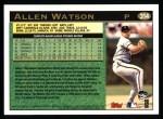 1997 Topps #314  Allen Watson  Back Thumbnail