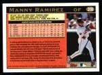 1997 Topps #318  Manny Ramirez  Back Thumbnail