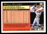 1997 Topps #387  Will Clark  Back Thumbnail