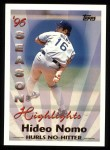 1997 Topps #464   -  Hideo Nomo Season Highlights Front Thumbnail