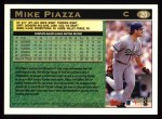 1997 Topps #20  Mike Piazza  Back Thumbnail