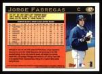 1997 Topps #47  Jorge Fabregas  Back Thumbnail