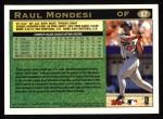 1997 Topps #67  Raul Mondesi  Back Thumbnail