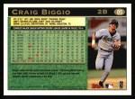 1997 Topps #85  Craig Biggio  Back Thumbnail