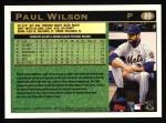 1997 Topps #89  Paul Wilson  Back Thumbnail