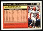 1997 Topps #139  Mark McLemore  Back Thumbnail
