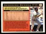 1997 Topps #169  Geronimo Berroa  Back Thumbnail